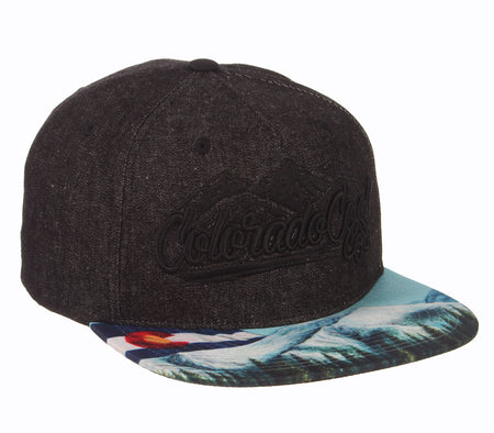 CO Mountain Landscape Snapback Hat