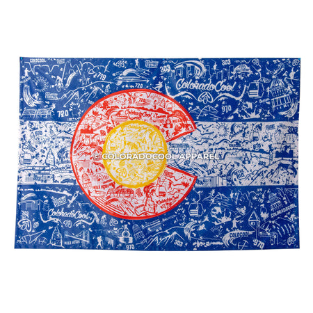 Colorado Flag Tapestry