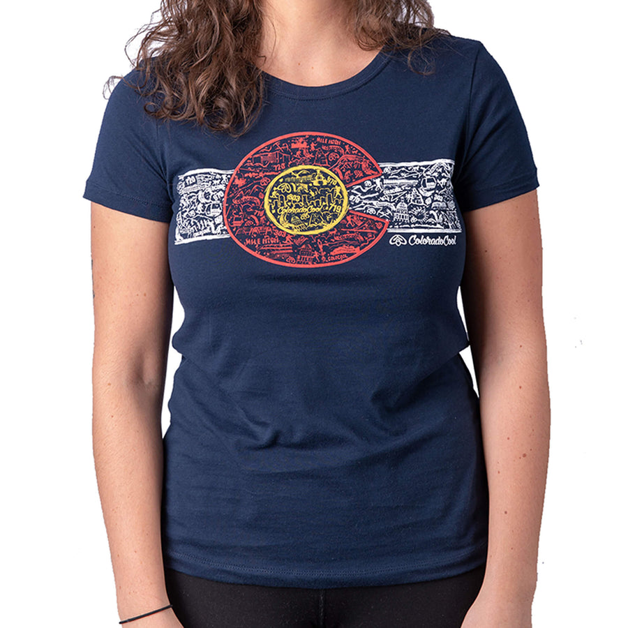 Colorado Flag Shirt Womens