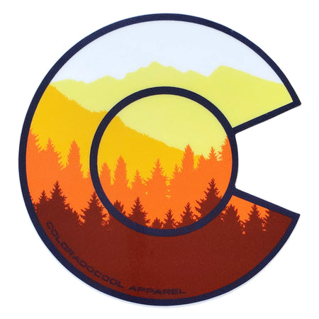 Colorado Flag Sticker - Colorado Sticker with Mountains