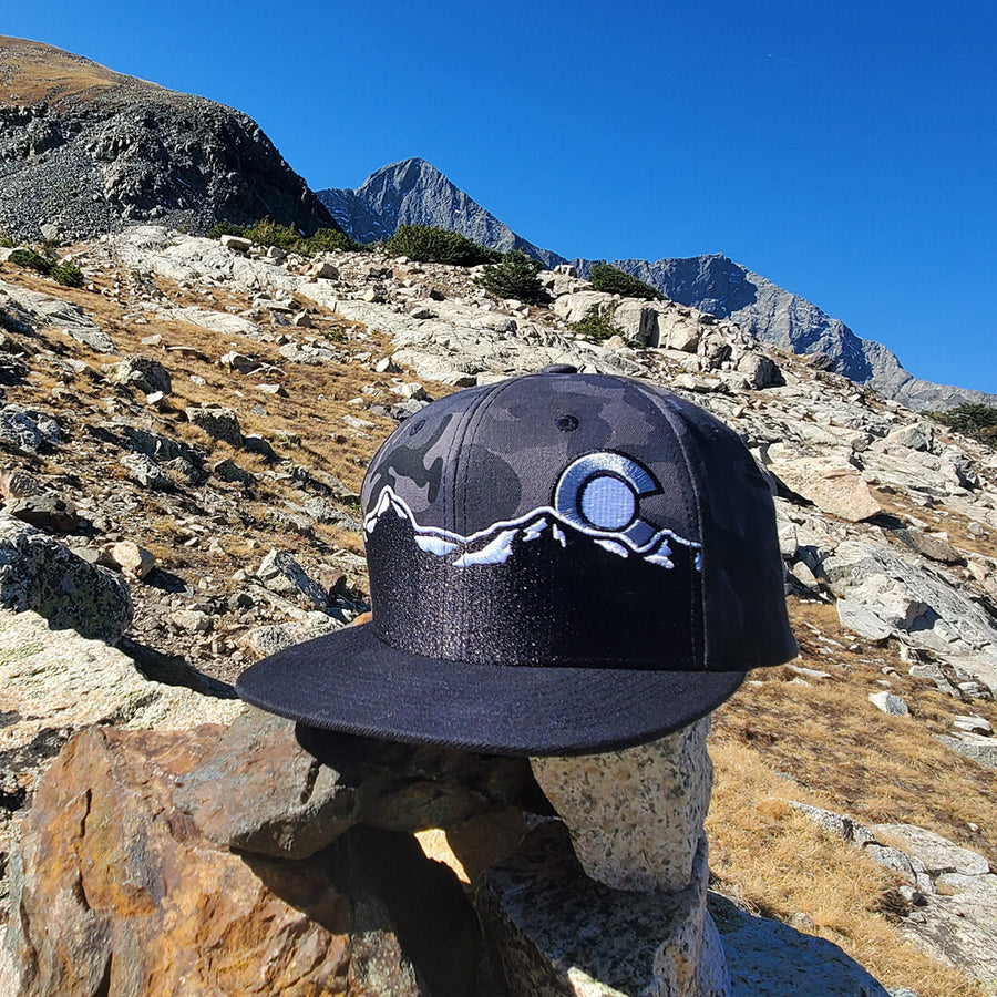 Colorado Mountain Range Camo Hat