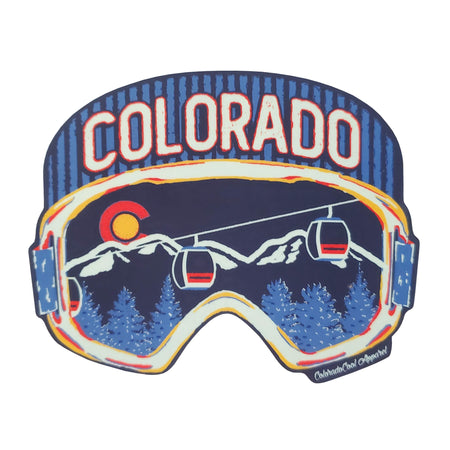 Colorado Snowboard Goggles Sticker