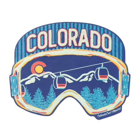 Colorado Ski Goggles Sticker