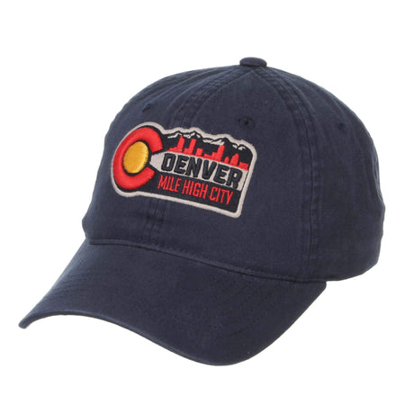 Denver - Mile High City Washed Hat - Dark Navy