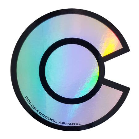 Holographic Colorado Flag Sticker