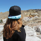 PaintBrushed Denim Snapback Hat - CO Mountain Landscape