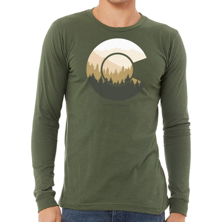 Mens Colorado Flag Shirt