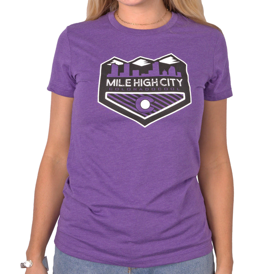 Mile High City Women's T-Shirt - Purple