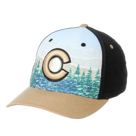 Scenic Route Colorado Hat - Black/Tan