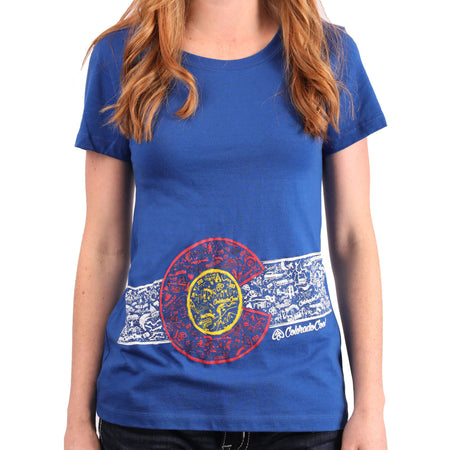 Women's Colorado Flag shirt | ColoradoCool Apparel