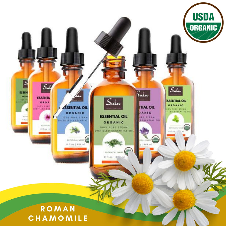 100% Pure and Natural Organic Roman Chamomile Essential Oil