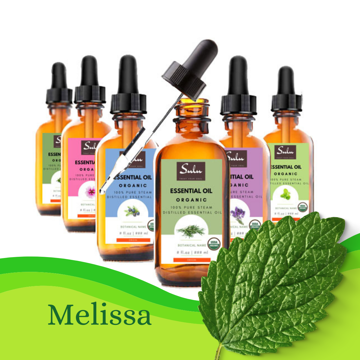 100% Pure and Natural Therapeutic Grade Melissa Essential Oil