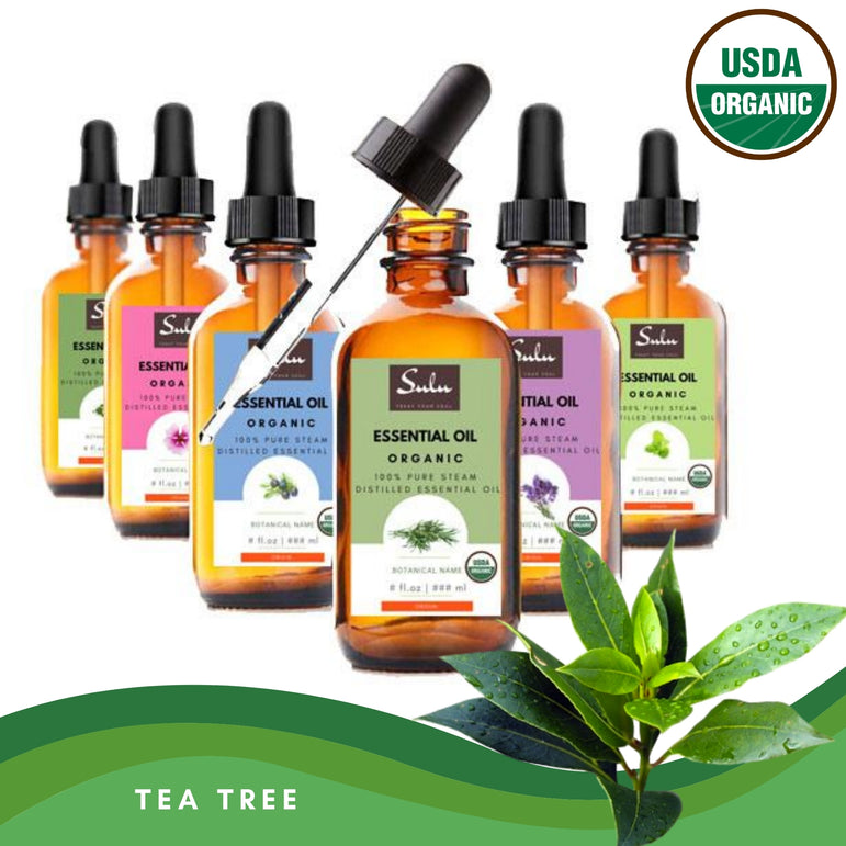 100% Pure and Natural Organic Therapeutic Grade Tea Tree Essential Oil