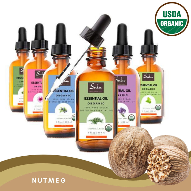 100% Pure and Natural Organic Nutmeg Essential Oil