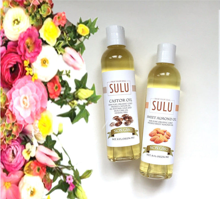 PURE CASTOR OIL AND SWEET ALMOND OIL FOR DAILY NATURAL FACE CLEANSER