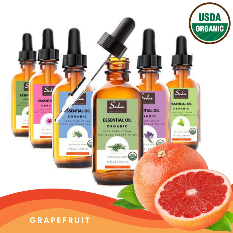 Pure Organic High Quality Therapeutic Grade Grapefruit Essential Oil