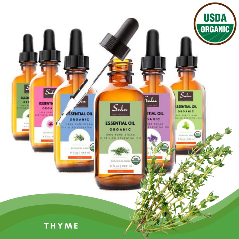 100% Pure and Natural Organic Thyme Essential Oil