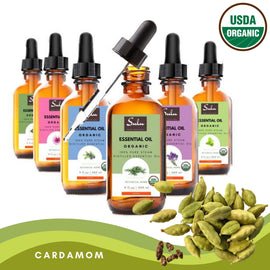 100% Pure and  Organic Natural Therapeutic Grade Cardamom Essential Oil