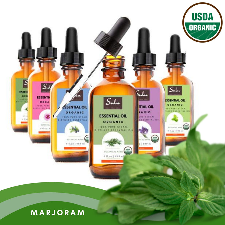100% Pure and Natural Organic Marjoram Essential Oil