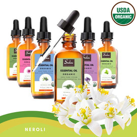 100% Pure and  Organic Natural Therapeutic Grade Neroli Essential Oil