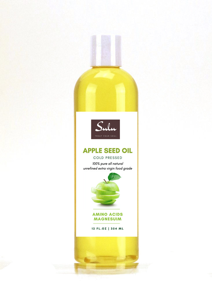 100% PURE ORGANIC EXTRA VIRGIN UNREFINED COLD PRESSED APPLE SEED OIL