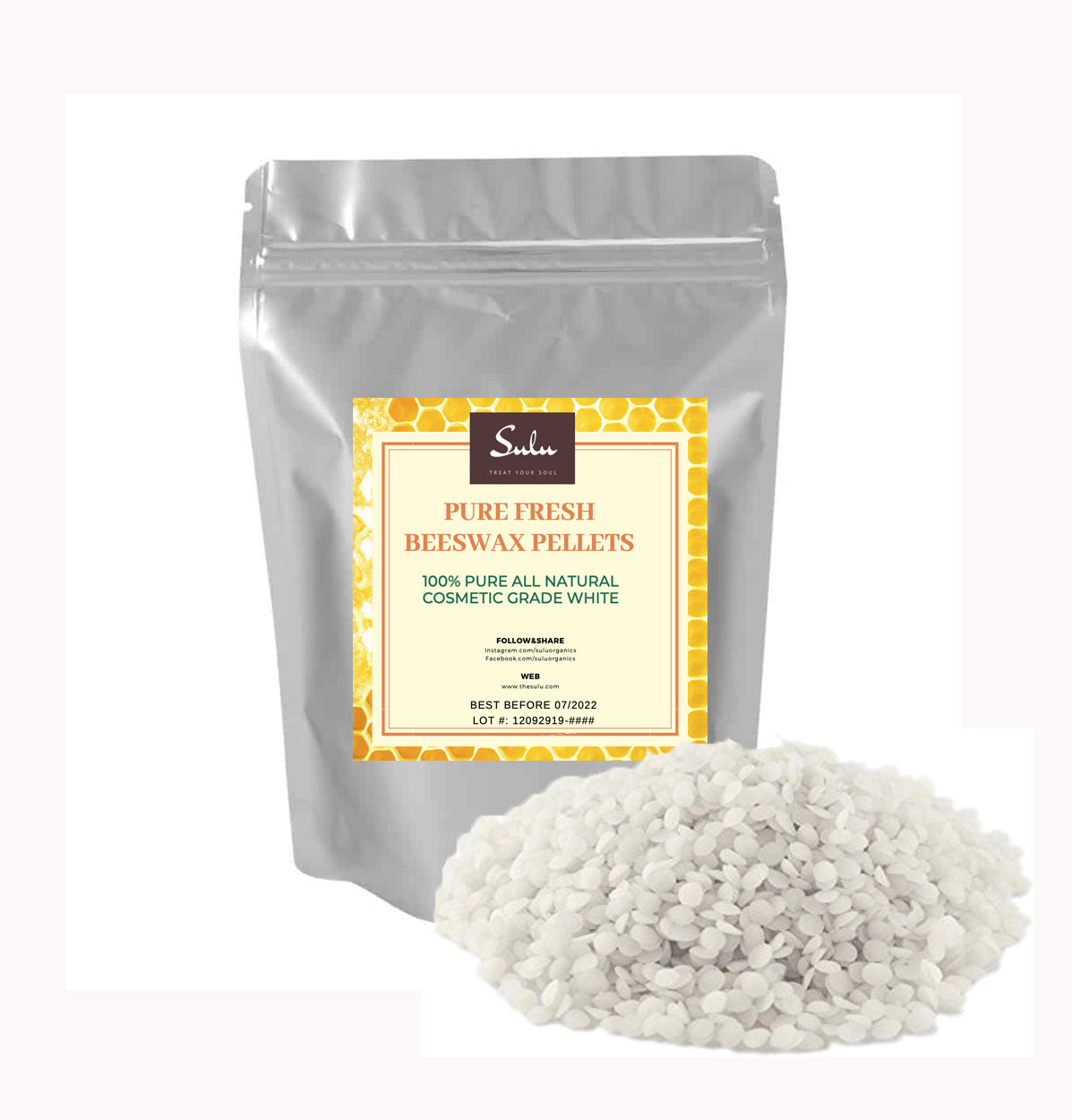 10 LBS PURE  BEESWAX PASTILLES WHITE 100% ALL NATURAL
