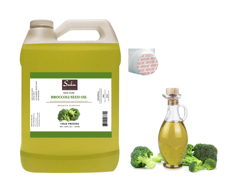 7 lbs Organic Extra Virgin Fresh Broccoli Seed Oil Cold Pressed Unrefined