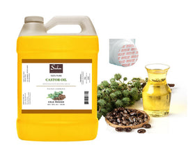 4 lbs  Castor oil 100% pure FIRST cold press