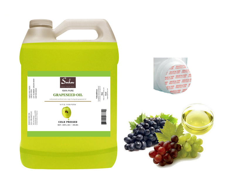 7 lbs 100% Pure Unrefined Extra Virgin Cold pressed Grape seed oil