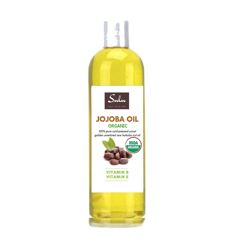 SULU ORGANICS® 100% PURE ORGANIC COLD PRESSED UNREFINED GOLDEN JOJOBA OIL