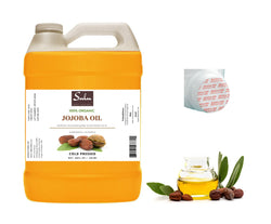 1 Gallon 100% Pure Organic Unrefined Cold Pressed Uncut Deep Golden Jojoba oil - Premium Quality