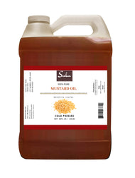 7 LBS 100% Pure Cold Pressed Extra Virgin Deep Indian Mustard Seed Oil -Premium Quality