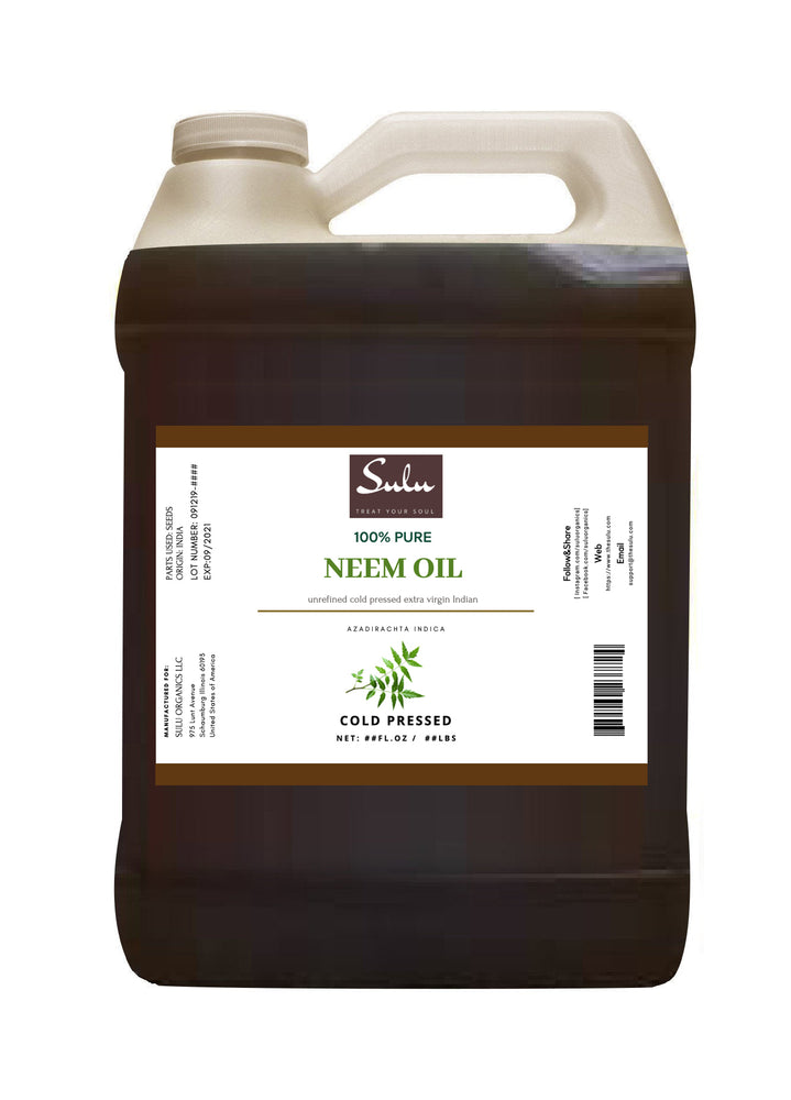7 lbs 100% Virgin Unrefined Neem Oil all natural cold pressed