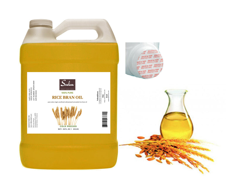 4 lbs Cold pressed VIRGIN UNREFINED Rice Bran Oil  100% pure oil