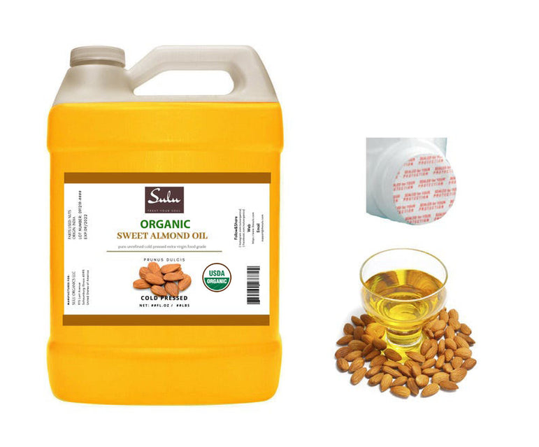1 Gallon 100% Pure Organic high quality Fresh Unrefined Extra Virgin Sweet Almond oil