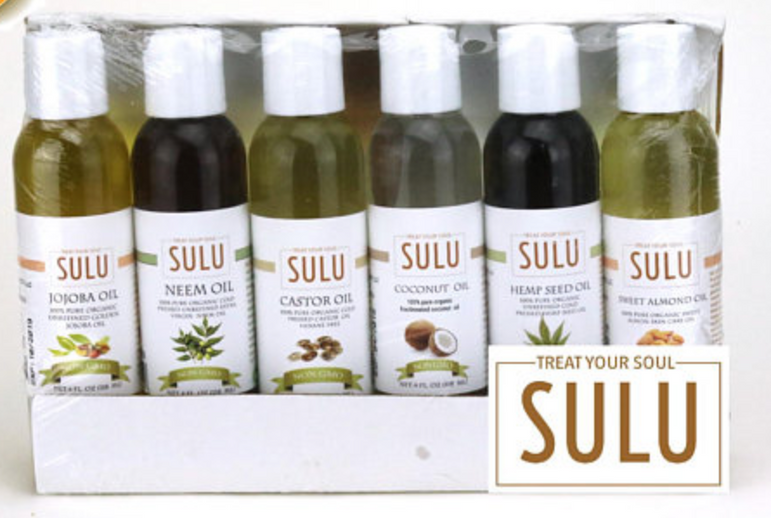 Set of 6 Cold Pressed High Quality Natural Moisturizing Oils for Face Hair and Body