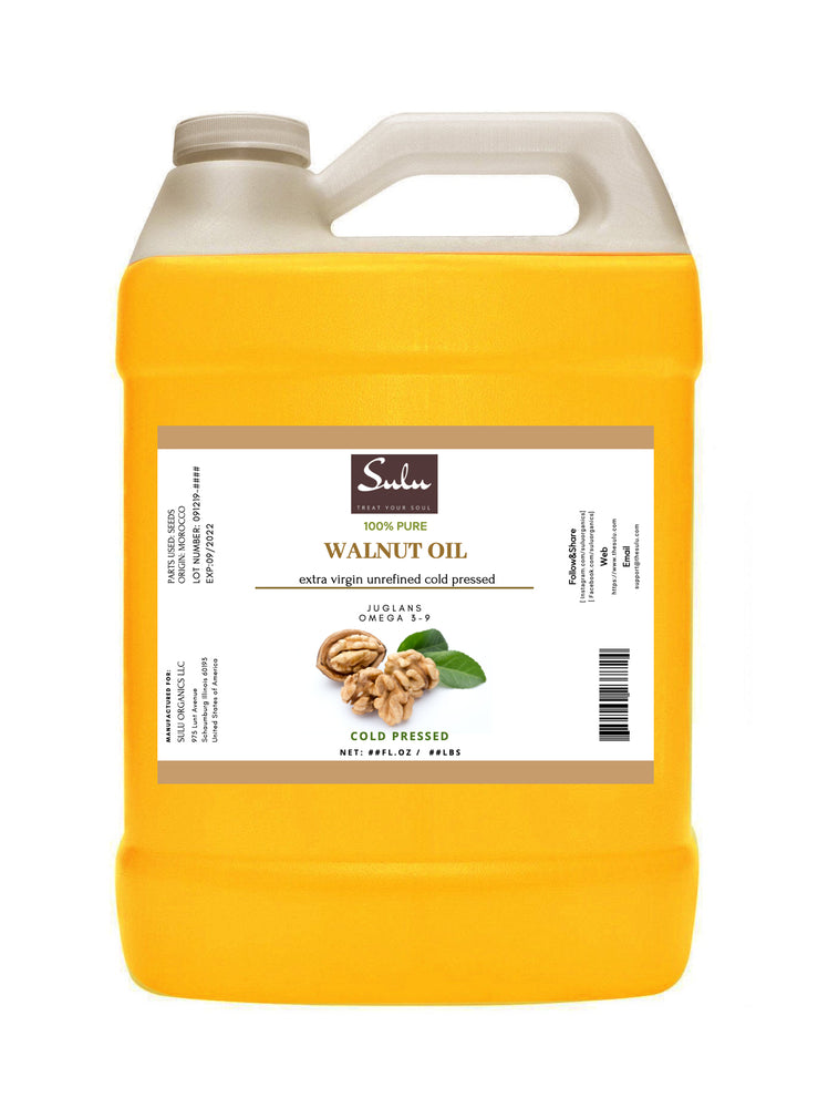 4 lbs Cold Pressed Extra Virgin Unrefined Walnut oil 100% pure natural