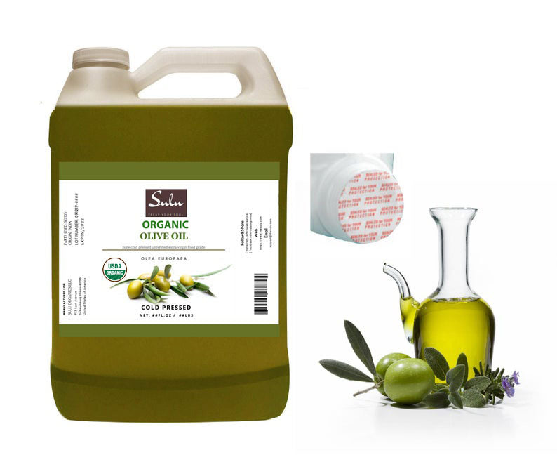 1 Gallon Pure Organic Extra virgin Olive oil Unrefined