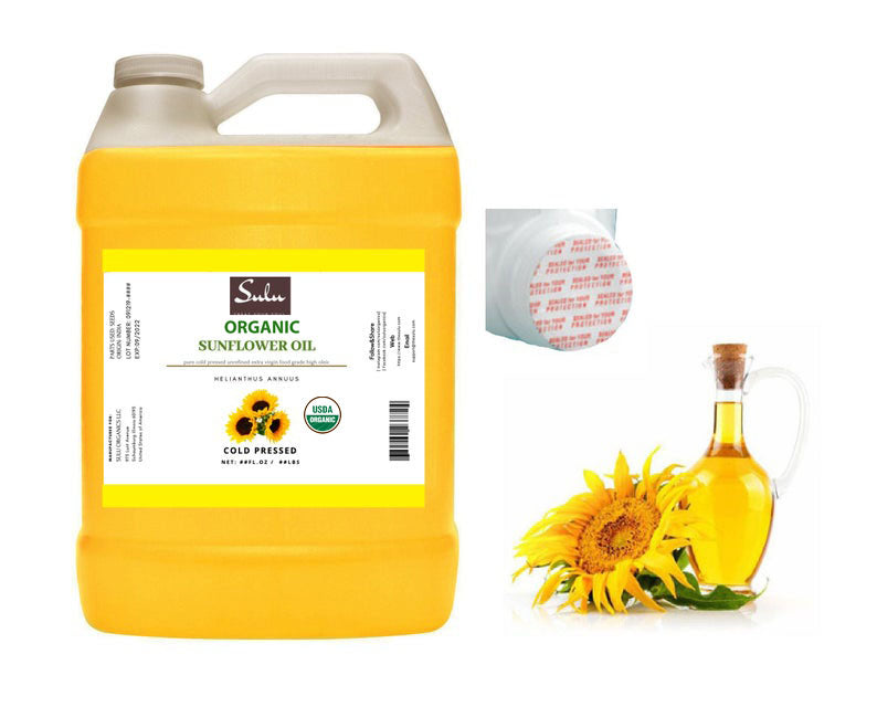 1 Gallon Organic Unrefined EXTRA VIRGIN Sunflower seed oil Deep Golden Highest Quality