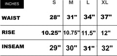 BLED Angled Cargo Pant Size Guide