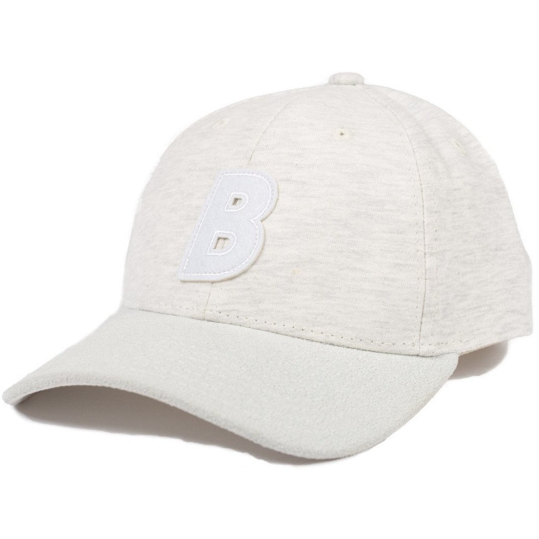 6-panel unconstructed Cotton heather grey jersey dad hat featuring BLED letter logo felt patch on the front and BLED logo embroidered on the back with adjustable strap closure. skate, skateboarding, hype, streetwear