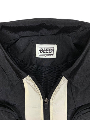 black bled clothing jacket overshirt los angeles bledwear streetwear