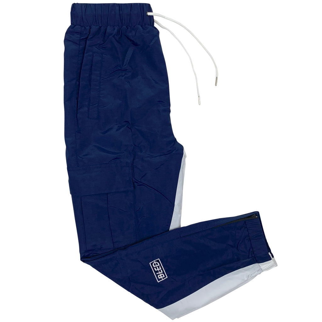 bled navy blue track pant streetwear hype clothing fashion grailed hypebeast