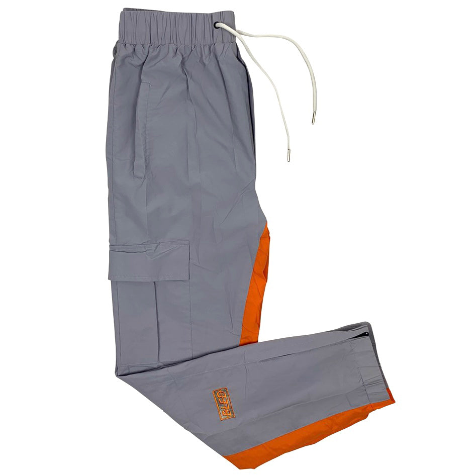 bled gray orange track pant jogger streetwear hype clothing bledwear fashion grailed hypebeast