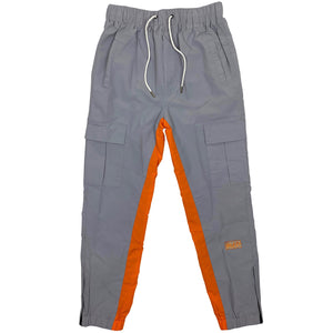 bled gray orange track pant streetwear jogger hype clothing bledwear fashion grailed hypebeast