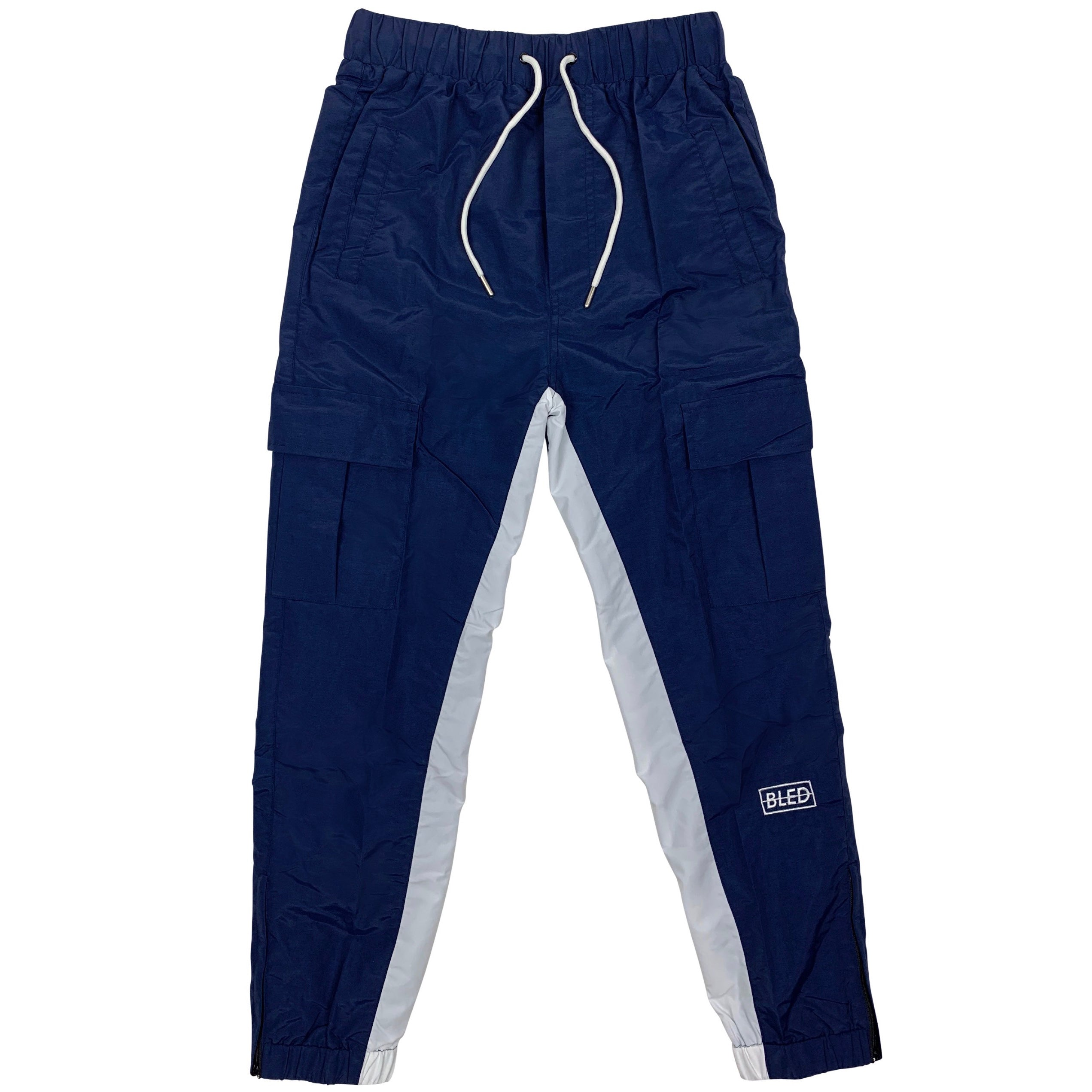 bled navy blue track pant streetwear hype clothing bledwear fashion grailed hypebeast