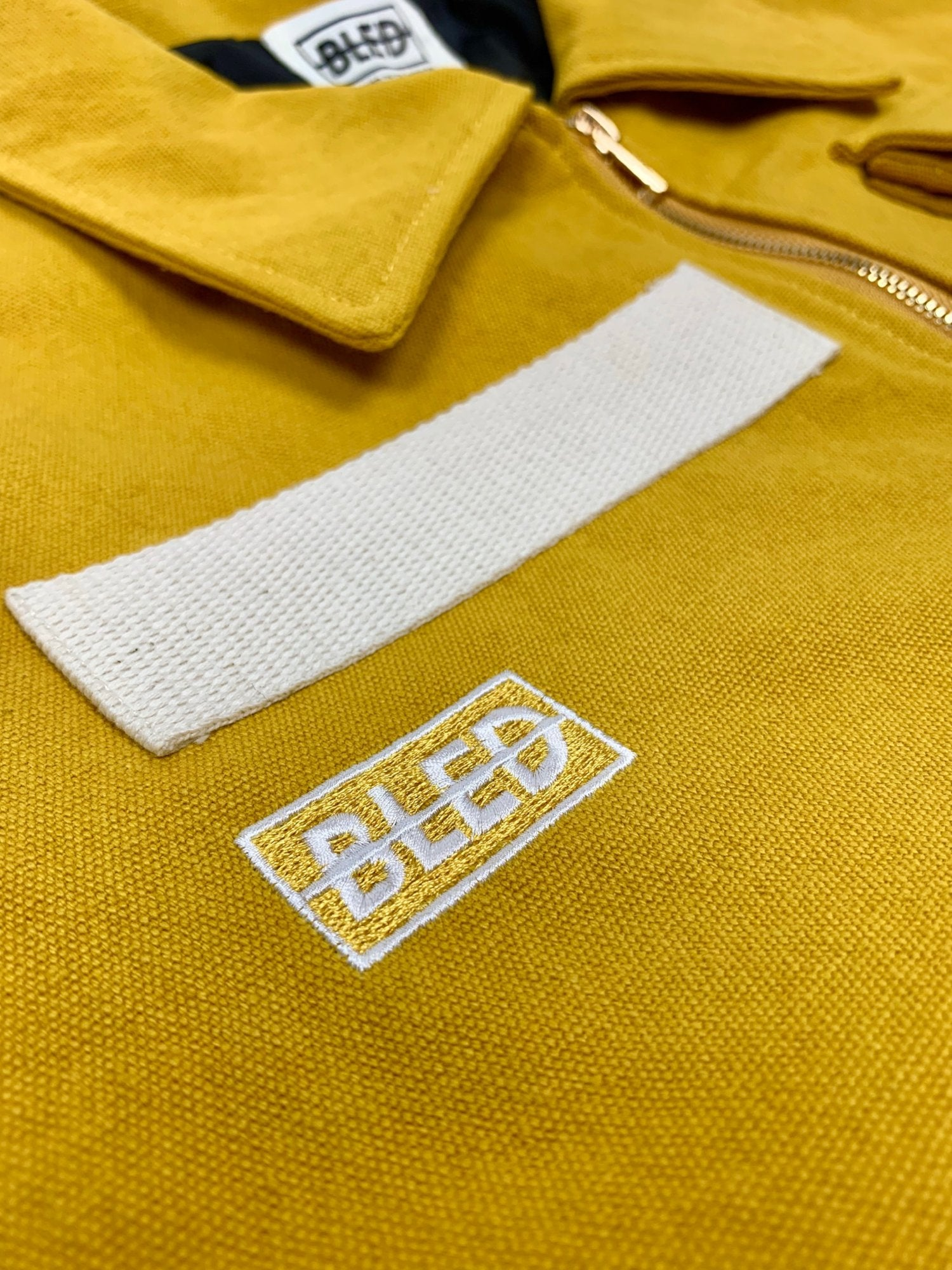 bled clothing bledwear twill jacket mustard yellow pocket