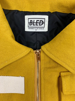 Bled Clothing Bledwear twill cotton cargo pocket jacket mustard yellow mens streetwear hype