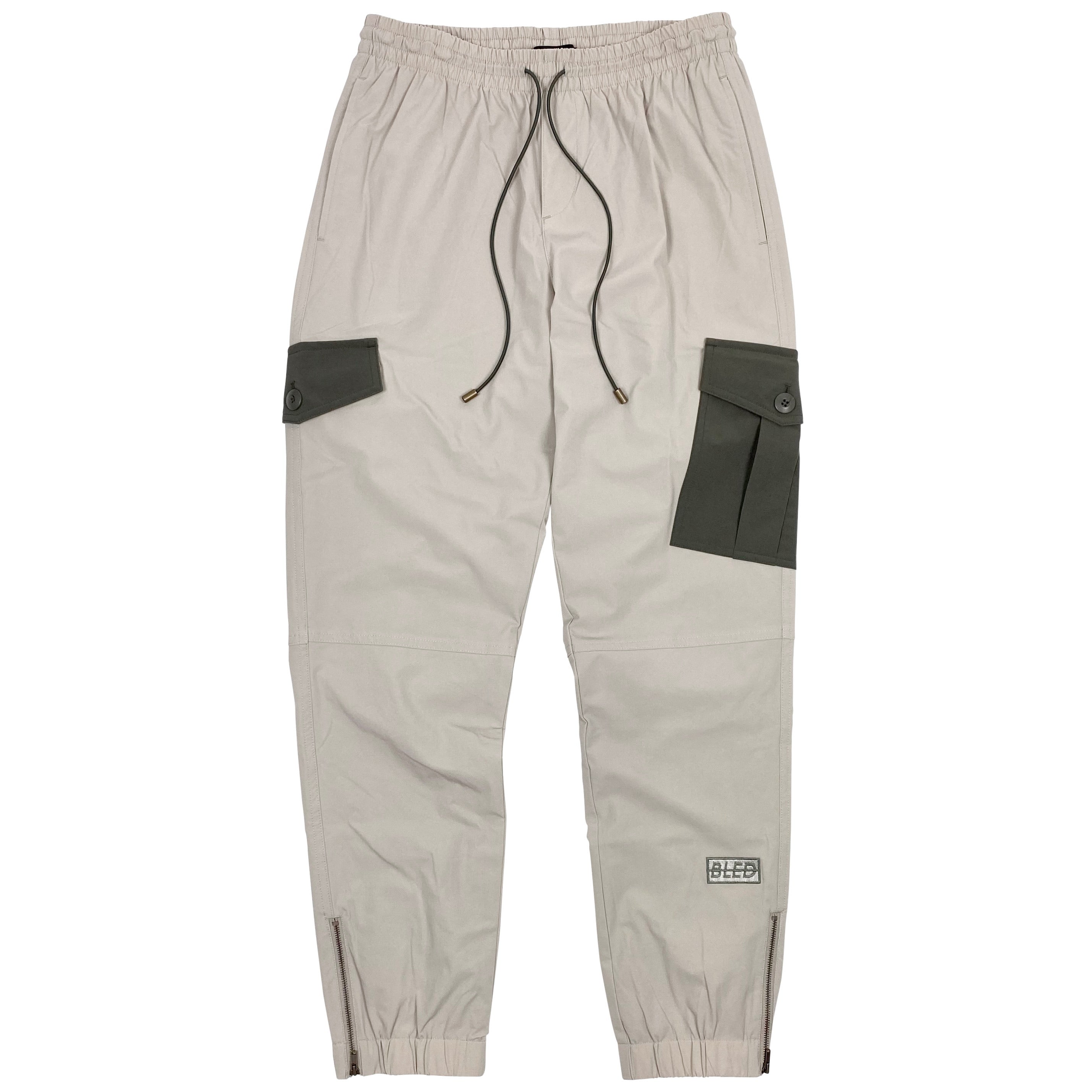 BLED-Clothing-Cargo Pant- Track Pant-Tan-Los Angeles-BLED LA-Trousers-Nylon Pant