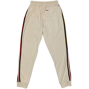 Bled track pant pants cream beige tan off white sweats runner runners jogger pant joggers men's taped bledwear streetwear Street fashion grailed hypebeast Bled clothing